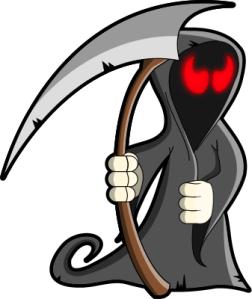 idiotprufs, grim reaper