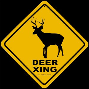 Seriously. You can't spell out the word cross? Stupid deer.