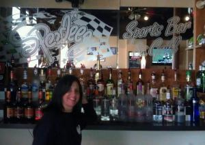 Jen, a bartender at Speedeez Sports Bar and Grill, who has reportedly spotted Bigfoot...and served him several beers.