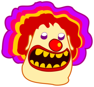 scary clown idiotprufs