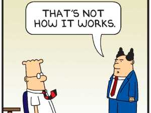 Dilbert. point haired boss