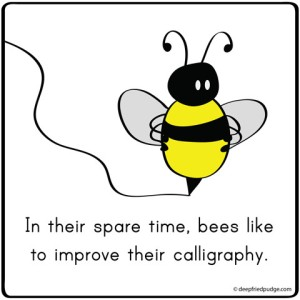 bee calligraphy nerd