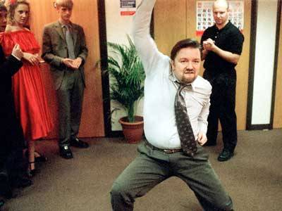 the office dancing