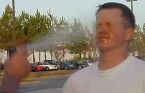 man pepper spray
