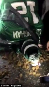 eagles fan eats shit