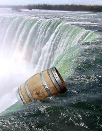 barrel over falls