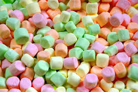 colored marshmallows