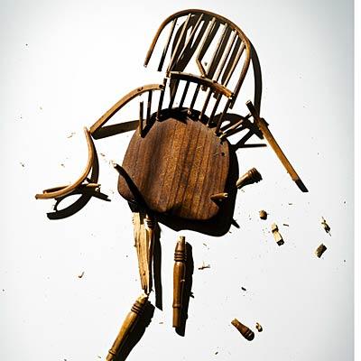 broken chair idiotprufs